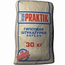 Штукатурка гипсовая лёгкая Praktik, 30 кг (45/49 шт./под.)